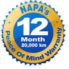 Peace of Mind Warranty - NAPA Auto Pro