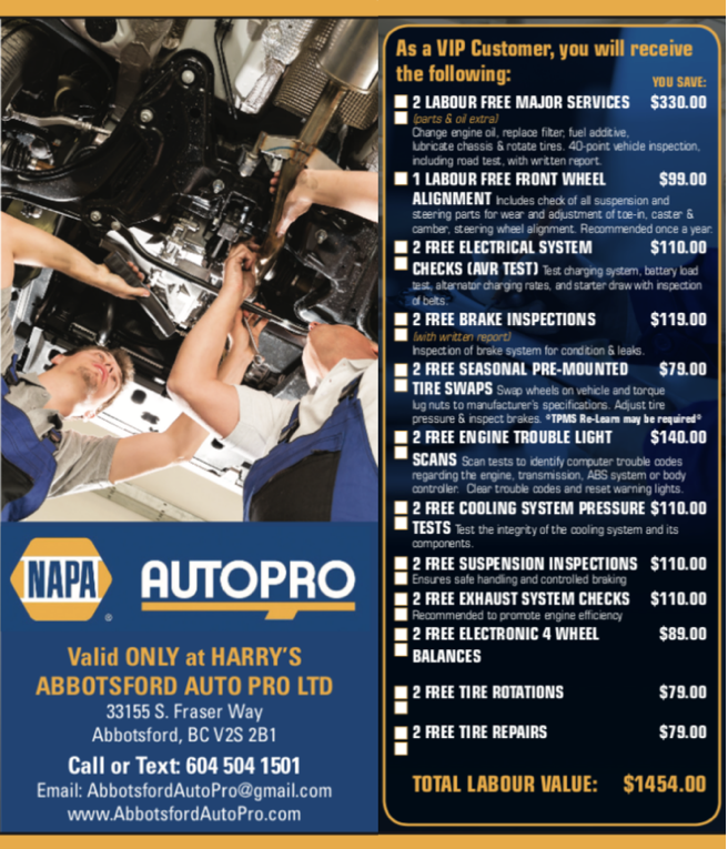 Abbotsford Auto VIP Program